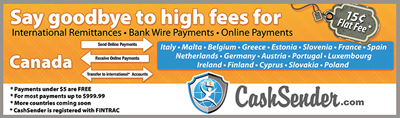 CashSender is the low cost way to send and receive online payments.