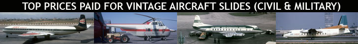 Top prices paid for vintage aircarft slides from the 1950s and 1960s