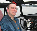 Henry Tenby AirlineFan.com Website Manager on the flight deck of the Martin Mars