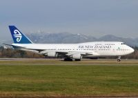 Photo: Air New Zealand, Boeing 747-400, ZK-SUH
