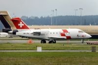 Photo: Rega - Swiss Air Ambulance, Canadair Challenger, HB-JRA