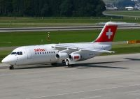 Photo: Swiss, British Aerospace RJ-100, HB-IXO