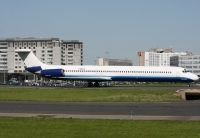 Photo: Blue Line, McDonnell Douglas MD-80, F-GMLX