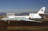 Photo: San Jose Sharks, Dassault Falcon 50, N33GG