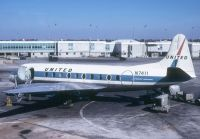 Photo: United Airlines, Vickers Viscount 700, N7411