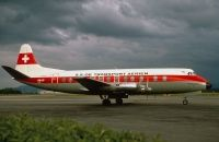 Photo: SATA- SA De Transport Aerien Geneva, Vickers Viscount 800, HB-ILP