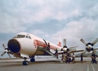 Photo: Western Airlines, Lockheed L-188 Electra