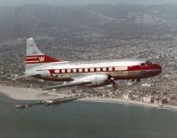 Photo: Western Airlines, Convair CV-240, N8410H
