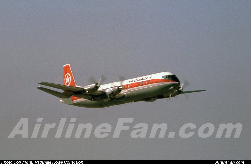 We've saved the best Air Canada Vickers Vanguard photos for the last. In this case we are presented with the signature low deck angle departure shot of an Air Canada Vickers Vanguard from Montreal Dorval taken in March, 1965. This original slide came fro the famous Thompson slide collection.
