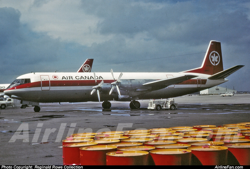 Air Canada Vickers Vanguard 952C CF-TKK was the only Vanguard in the fleet converted to pure freighter, as explained in the article above. And seen in this photo at Toronto Malton in August, 1970. In 1972 this Air Canada Vanguard was sold to Europe Aero Service as F-BTYB where it continued to operate through the decade of the 1970s as a Perpignon-based cargo hauler.