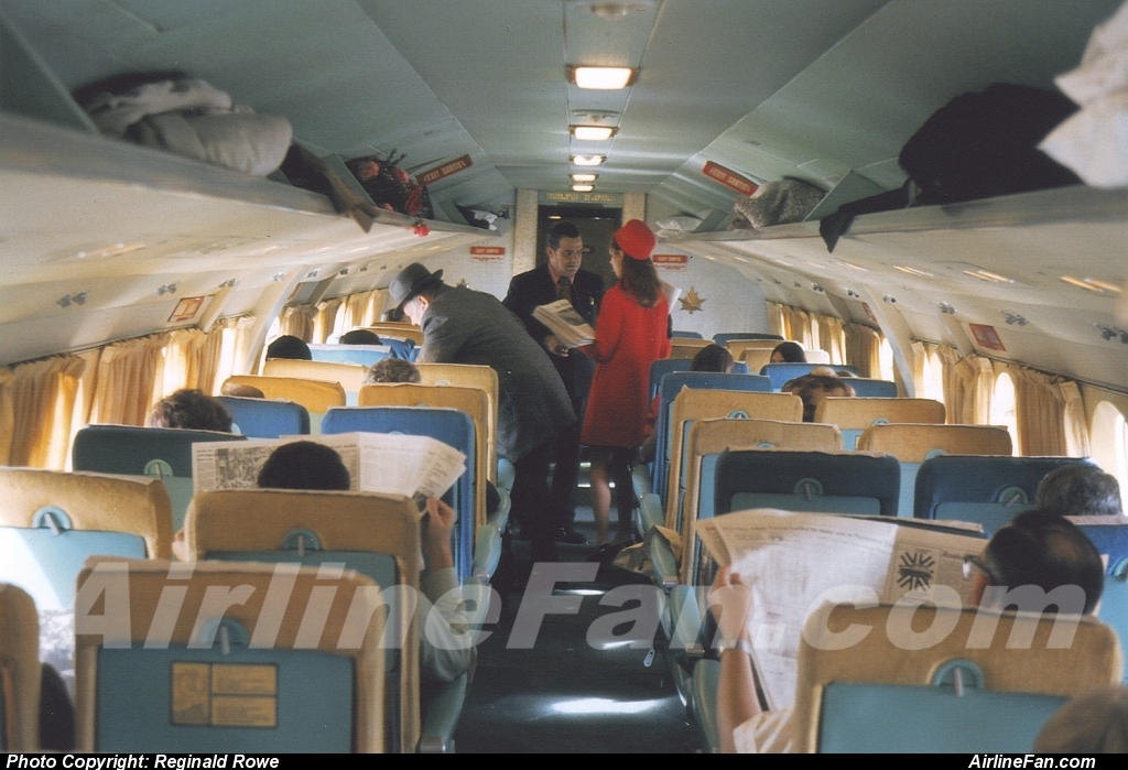 Air Canada Vickers Viscount on board pre departure from Ottawa circa 1966. This photo was supplied by