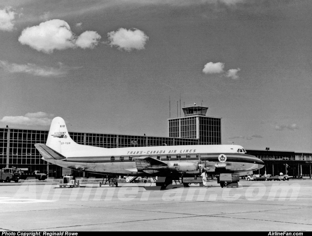 TCA Vickers Viscount CF-TGR at Halifax July 1958.