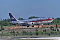 Photo: USAir, Boeing 737-400, N412US