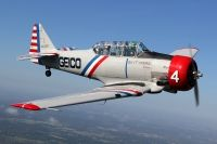 Photo: Geico Skytypers, North American SNJ, N7648E