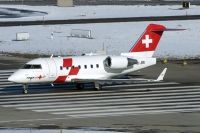 Photo: Rega - Swiss Air Ambulance, Canadair Challenger, HB-JRB