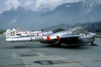 Photo: Swiss Air Force, De Havilland DH-100 Vampire, J-1195