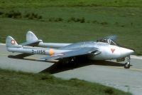 Photo: Swiss Air Force, De Havilland DH-100 Vampire, J-1155