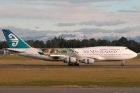 Photo: Air New Zealand, Boeing 747-400, ZK-NBV